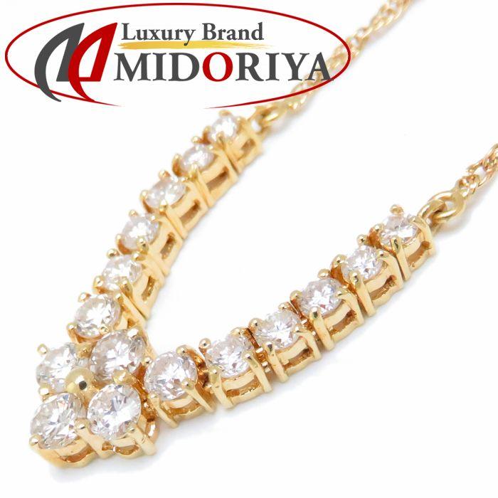 ダイヤモンドネックレス K18YG ダイヤモンド1.00ct 44cm 18金イエローゴールド /72549 レディース ジュエリー【中古】