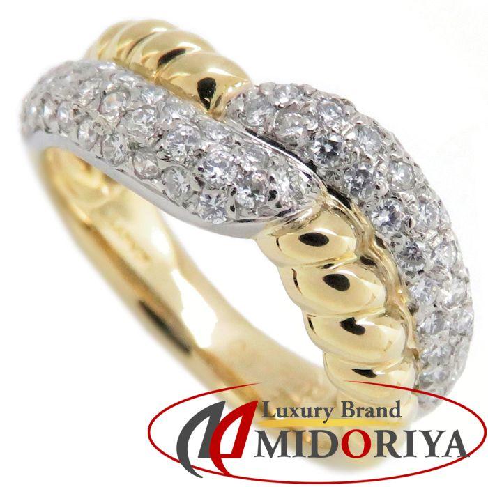 ランバン LANVIN ダイヤモンドリング K18YGxPt900 12.5号 ダイヤモンド0.51ct コンビカラー 指輪/092651【中古】
