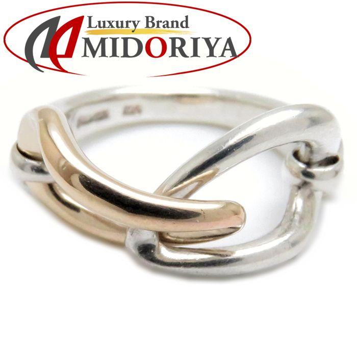 4℃ ヨンドシィ リング SVxK10YG 8号 シルバー イエローゴールド コンビカラー 指輪 092835W2YeEHID9