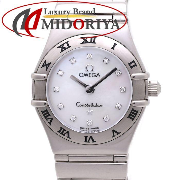 OMEGA オメガ 1163.76 コンステレーション マイチョイス シェル 12Pダイヤ 750WG レディース /36779 【中古】 腕時計