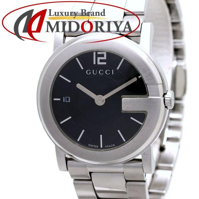 GUCCI グッチ YA101405 101J ボーイズ SS クォーツ ブラック /36818 【中古】 腕時計