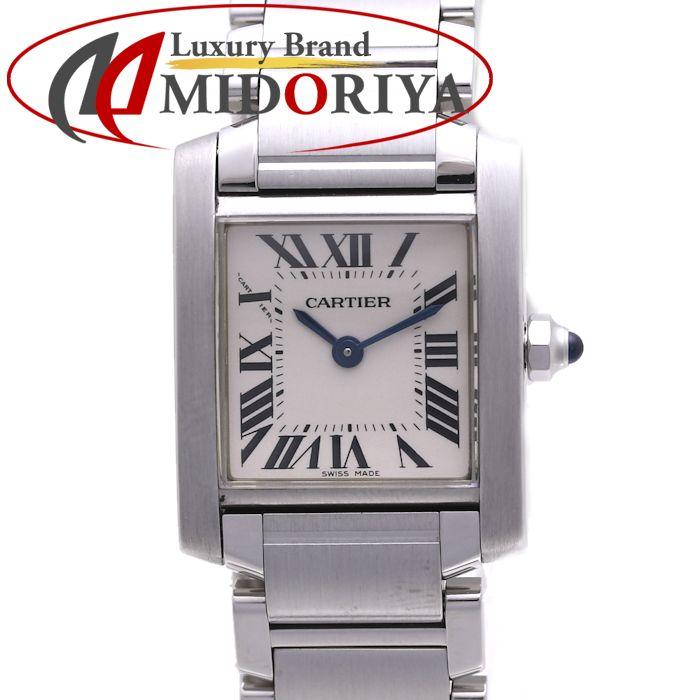 カルティエ Cartier タンクフランセーズ SM W51008Q3 クォーツ レディース /36907 【中古】 腕時計