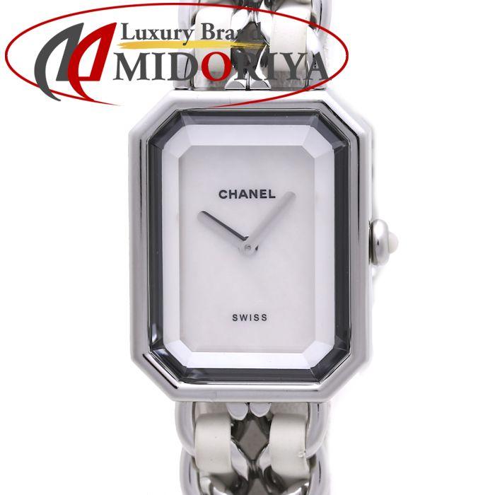 CHANEL シャネル プルミエール H1639 ホワイトシェル クオーツ レディース /36933 【中古】 腕時計