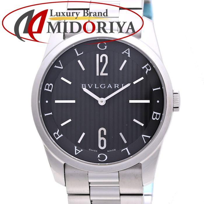 ブルガリ ST42BSS ST42S ソロテンポ メンズ クォーツ /36937 【中古】 腕時計