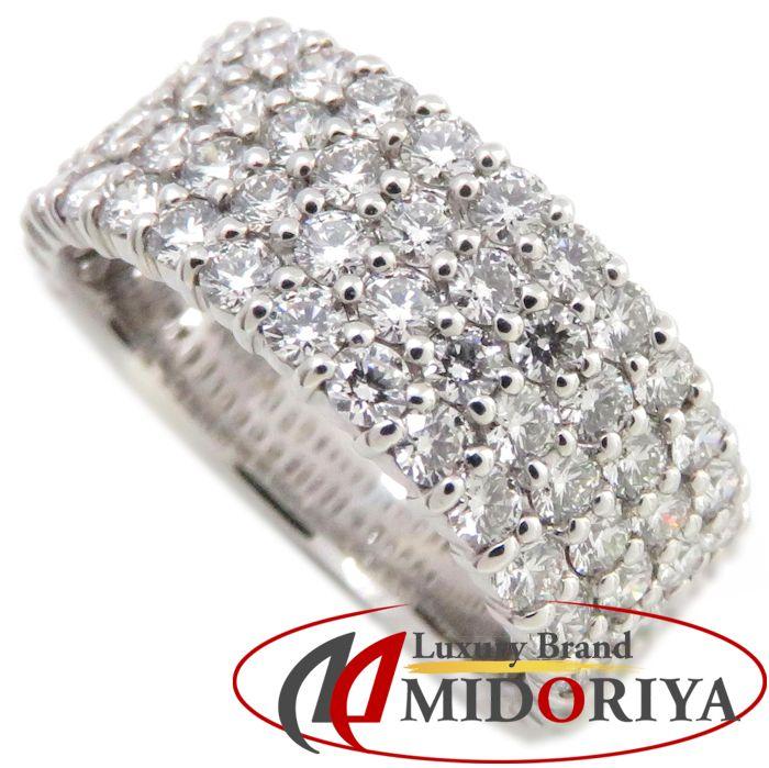 ダイヤモンドリング K18WG ダイヤモンド1.80ct 10号 18金ホワイトゴールド 指輪 レディース ジュエリー /63766 【中古】