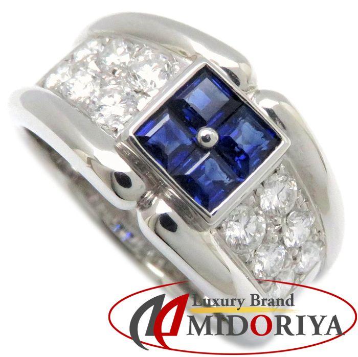 リング Pt900 サファイヤ0.68ct ダイヤモンド0.67ct 14.5号 プラチナ 指輪 レディース ジュエリー /63812 【中古】