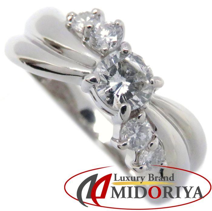 ダイヤモンドリング Pt900 ダイヤモンド0.50ct 11号 プラチナ 指輪 レディース ジュエリー /63818 【中古】