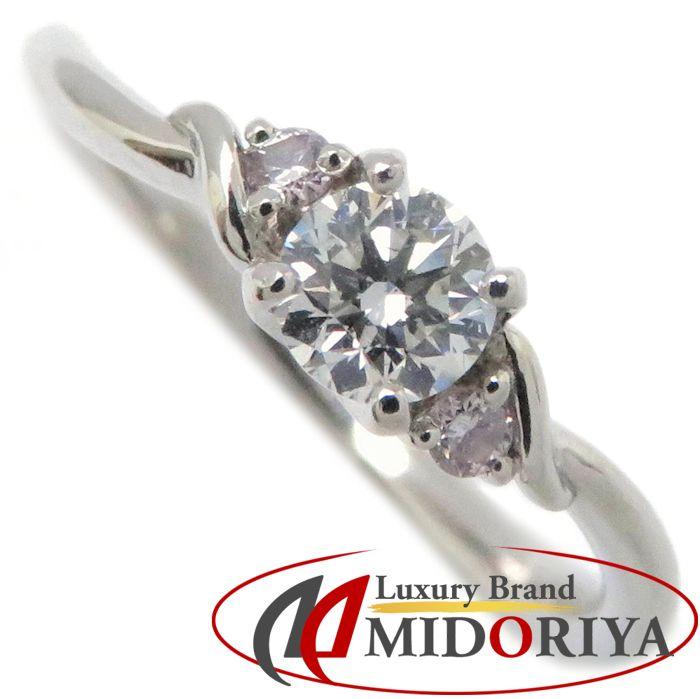 ダイヤモンドリング Pt900 ピンクダイヤモンド0.231ct/0.03ct 7号 プラチナ 指輪 レディース ジュエリー /63824 【中古】