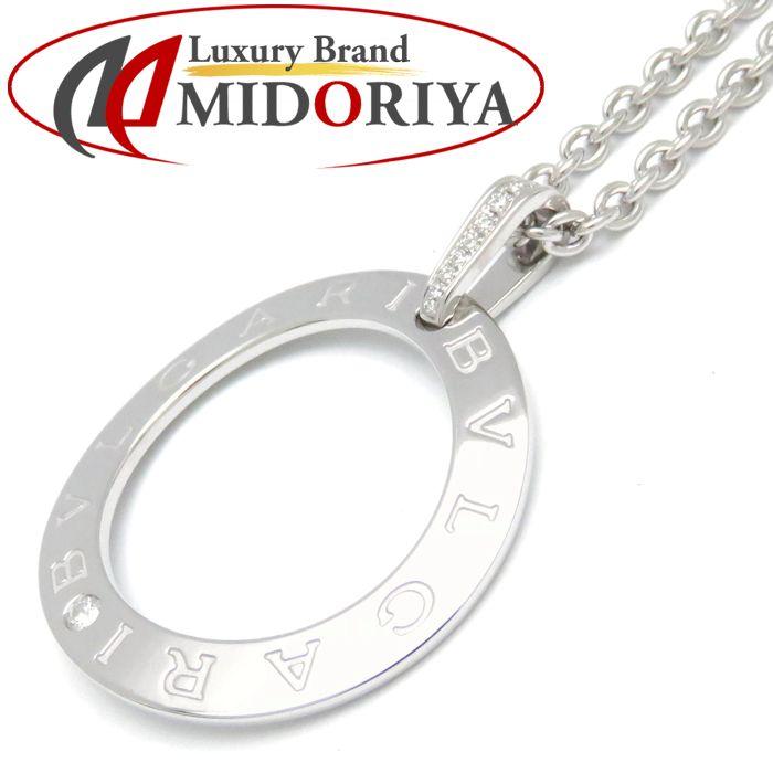 ブルガリ BVLGARI ブルガリブルガリ ネックレス ダイヤモンド K18WG 343388 ホワイトゴールド ペンダント/093117【中古】