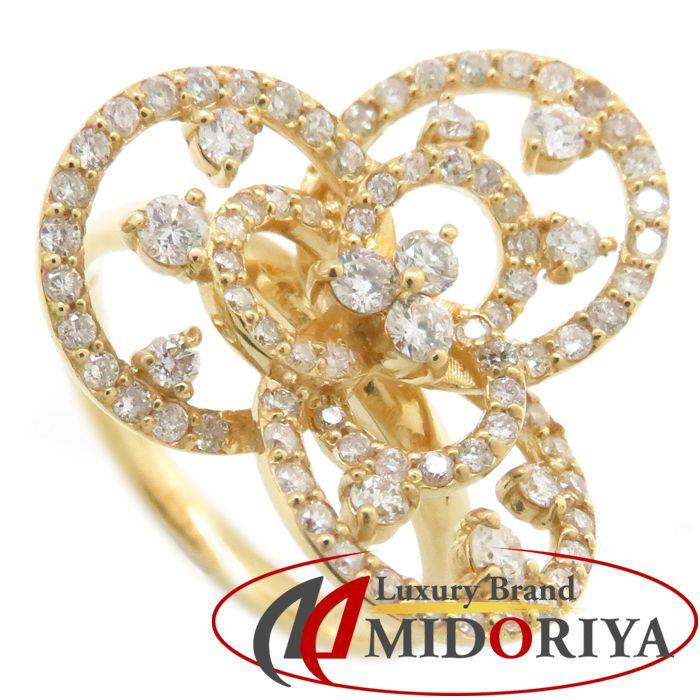 ダイヤモンドリング K18YG ダイヤモンド0.75ct 11.5号 18金イエローゴールド 指輪 レディース ジュエリー /63855 【中古】