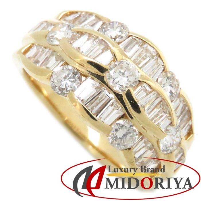 ダイヤモンドリング K18YG ダイヤモンド1.58ct 10号 18金イエローゴールド 指輪 レディース ジュエリー /63863 【中古】