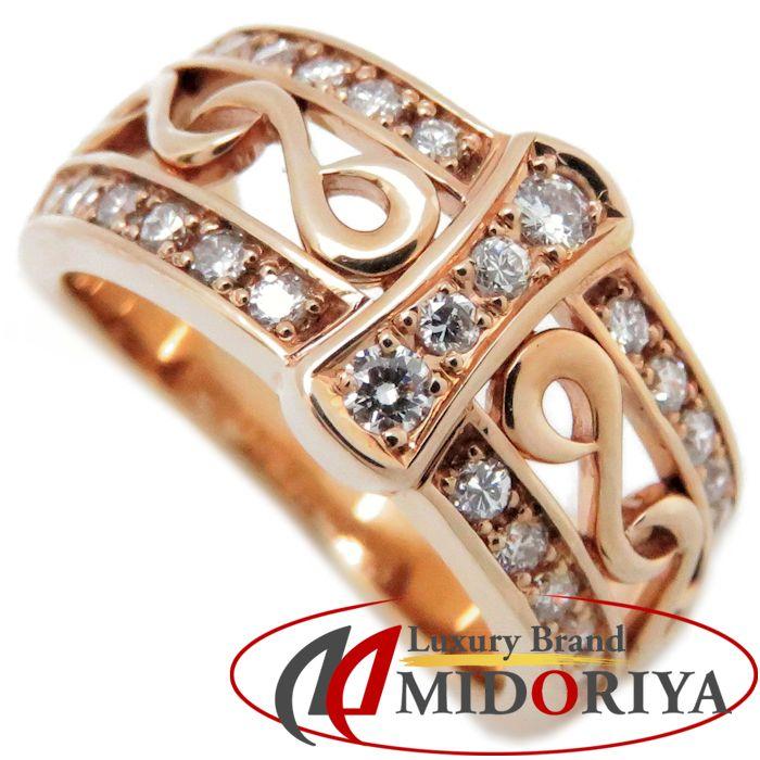 ダイヤモンドリング ピンキー K18PG ダイヤモンド0.30ct 4号 18金ピンクゴールド 指輪 レディース ジュエリー /63913 【中古】