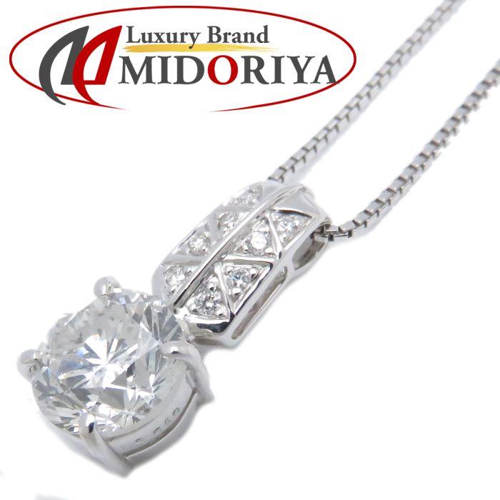 ダイヤモンドネックレス K18WG ダイヤモンド3.549ct/0.09ct 45cm I/I-2 18金ホワイトゴールド レディース ジュエリー /72814 【中古】