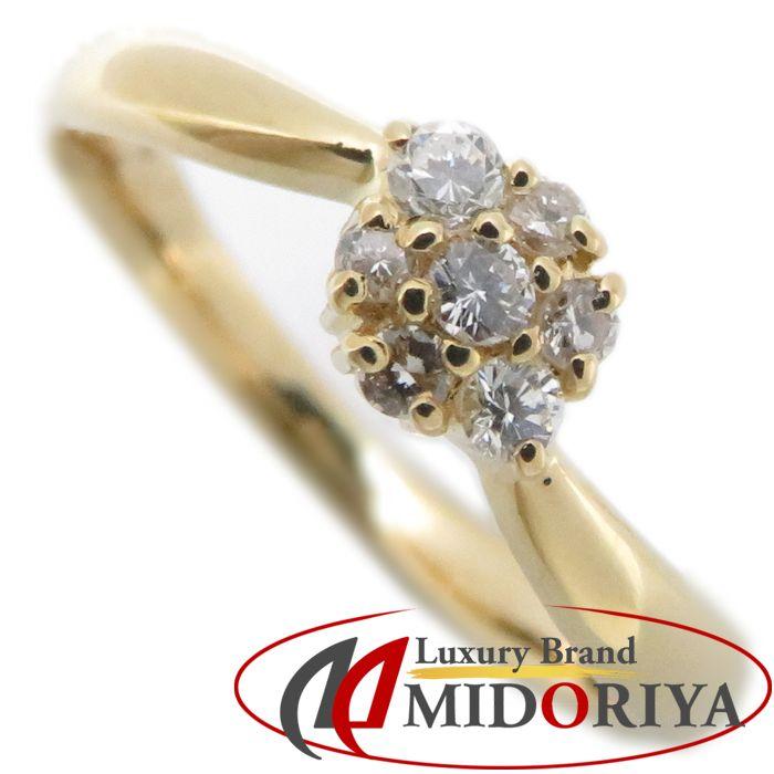 ELLE エル ダイヤモンドリング K18YG 7号 ダイヤモンド0.10ct イエローゴールド 指輪/093311【中古】