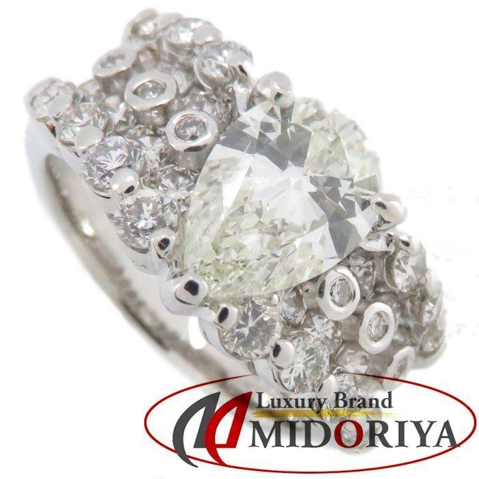 ダイヤモンドリング Pt900 ダイヤモンド1.523ct/1.52ct 13号 プラチナ 指輪 レディース ジュエリー /63974 【中古】