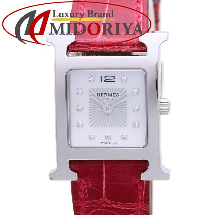 エルメス HERMES Hウォッチ HH1.210.290/ZFR ダイヤ シェル レディース /36975 【中古】 腕時計 現行品