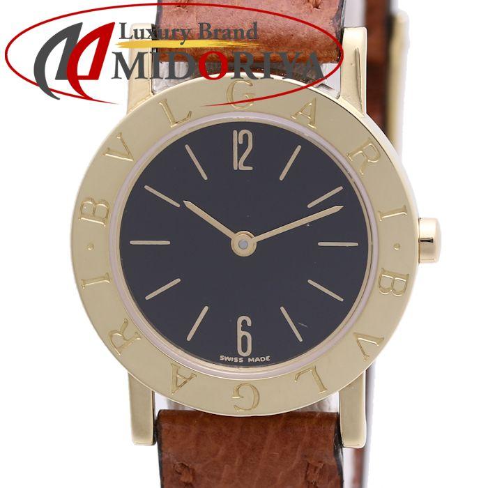 BVLGARI ブルガリ ブルガリブルガリ BB26GL クオーツ K18/革 レディース /36980 【中古】 腕時計