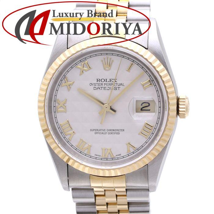ロレックス ROLEX デイトジャスト 16233 T番 自動巻き メンズ K18YG/SS製 /36982 【中古】 腕時計