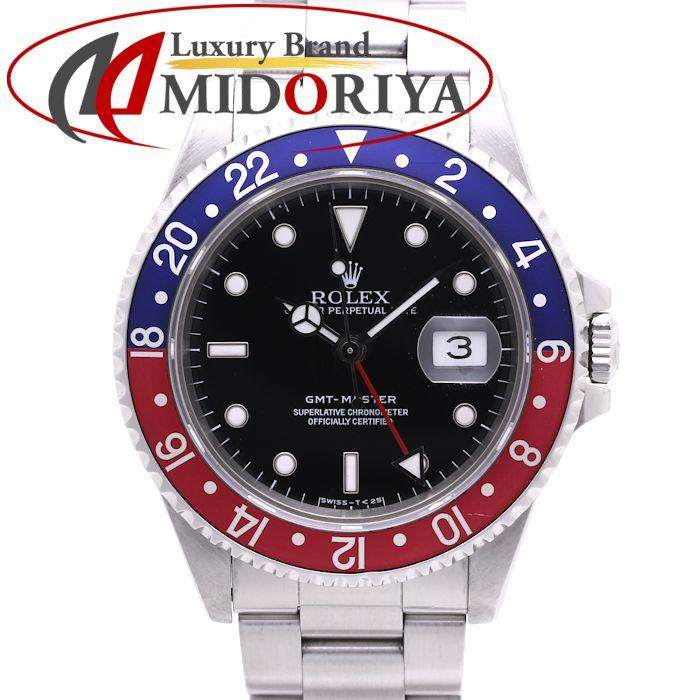 ロレックス GMTマスター1 16700 メンズ ROLEX 赤青ベゼル /36983 【中古】 腕時計