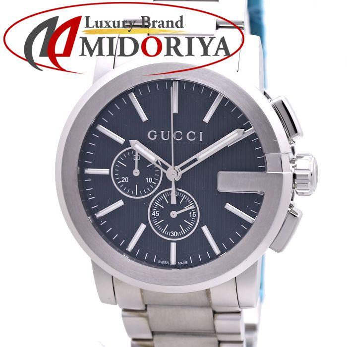 グッチ GUCCI メンズ YA101204 Gクロノ エクストララージ 101.2 クオーツ クロノグラフ /36988 【中古】 腕時計
