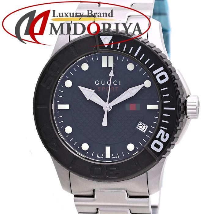 GUCCI(グッチ) YA126249 Gタイムレス スポーツ 126.2 ブラックダイヤル メンズ /36990 【中古】 腕時計