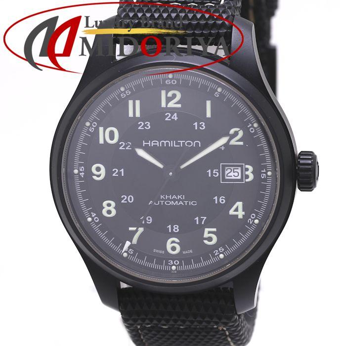ハミルトン HAMILTON カーキ フィールド チタニウム 自動巻き 42ミリ チタン ブラックPVD /36999 【中古】 腕時計