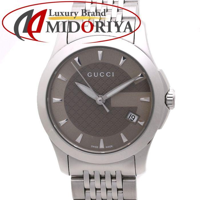 グッチ GUCCI レディース Gタイムレス ブラウン YA126503 126.5 /37061 【中古】 腕時計