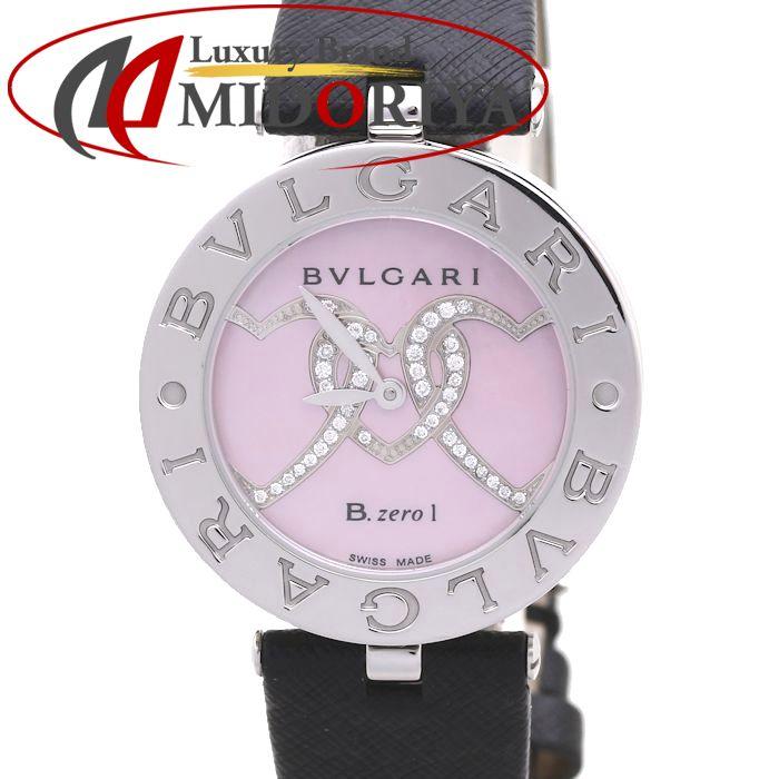 ブルガリ BZ30C2HDSL/2 BZ30S B-zero1(ビーゼロワン) レディース ピンクシェル ハートダイヤモンド Mサイズ /37101 【中古】 腕時計