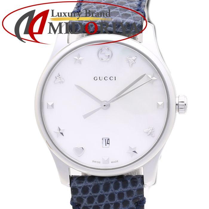 グッチ GUCCI レディース Gタイムレス YA1264049 126.5 ホワイトシェル /37120 【中古】 腕時計