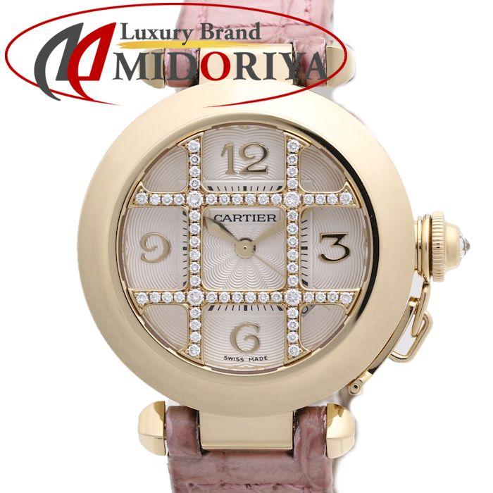カルティエ CARTIER パシャ 32mm グリッド ダイヤモンド 18KYG無垢 WJ116056 レディース /37127 【中古】 腕時計