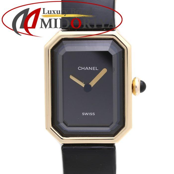シャネル CHANEL プルミエール レディース H0090 K18YG/エナメル 黒文字盤 /37165 【中古】 腕時計