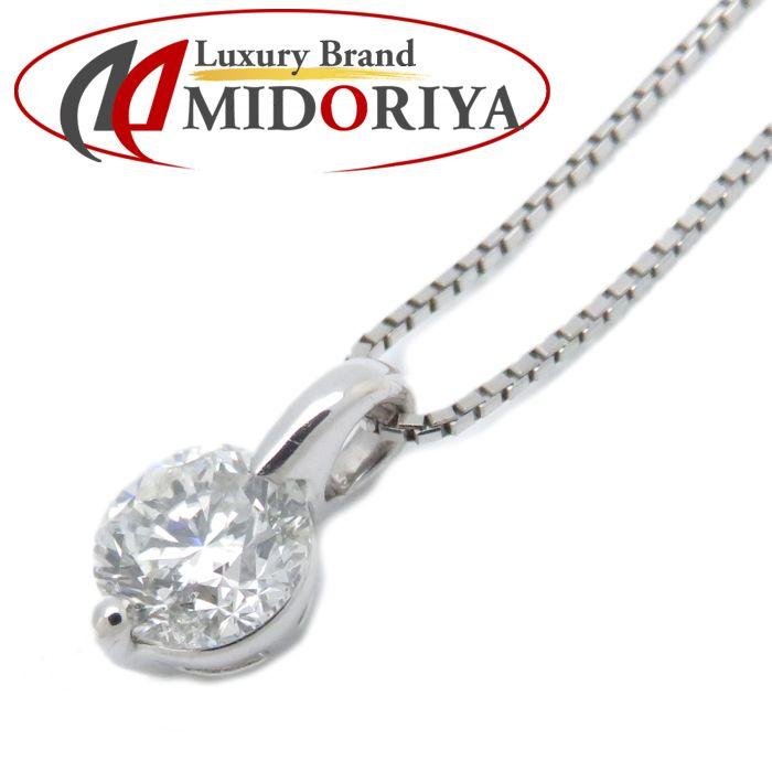 ダイヤモンドネックレス Pt900xPt850 ダイヤモンド1.009ct H/SI-2 プラチナ レディース ジュエリー /72803 【中古】