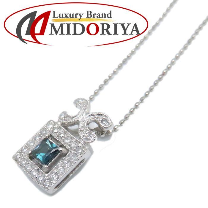 ネックレス Pt850xPt900 アレキサンドライト0.187ct ダイヤモンド0.16ct プラチナ レディース ジュエリー /72804 【中古】