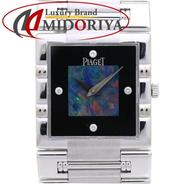ピアジェ PIAGET ダンサー スクエア K18WG 黒/オパール文字盤 80317K81 メンズ /37263 【中古】 腕時計