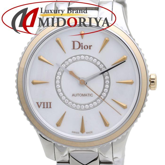 最短当日発送 新生活 クレジットカード可 ショッピングローン可 ディオール Dior VIII ユイット モンテーニュ シェル CD1535I0M001 サークルダイヤ スーパーセール期間限定 レディース 未使用 腕時計 37585