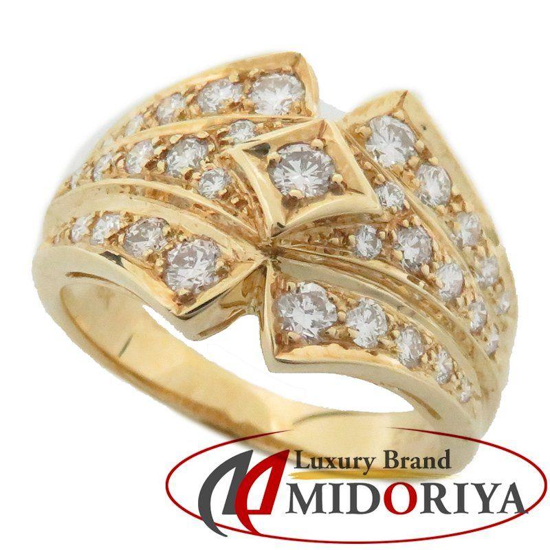 在庫一掃売り切りセール 最短当日発送 クレジットカード可 ショッピングローン可 ダイヤモンドリング 18KYG ダイヤモンド0.65ct 12号 中古 ジュエリー 64635 18金イエローゴールド ふるさと割 指輪 レディース