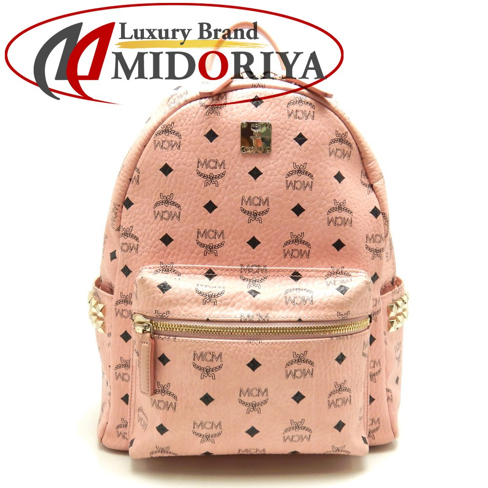 MCM エムシーエム MMK 7AVE バックパック レザー ピンク リュックサック/058534【中古】