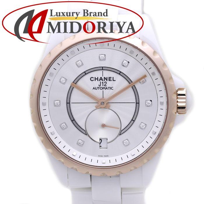 最短当日発送 限定特価 クレジットカード可 ショッピングローン可 CHANEL シャネル J12-365 H4359 仕上げ済み 中古 ボーイズ ホワイトセラミック 37838 11Pダイヤ 腕時計 オートマ 最新アイテム