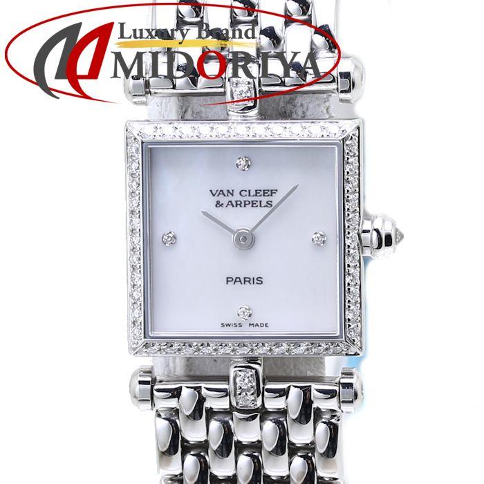 最短当日発送 クレジットカード可 ショッピングローン可 ヴァンクリーフ アーペル クラシック カレ 全国どこでも送料無料 購買 腕時計 ベゼルダイヤ 750WG レディース 中古 322942B1 37851