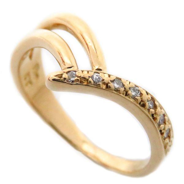 【最大3万円OFF&3倍】スタージュエリー STAR JEWELRY リング ダイヤモンド 0.044ct 実寸8号 K18YG 18金イエローゴールド 指輪/95781【中古】【クリーニング済】