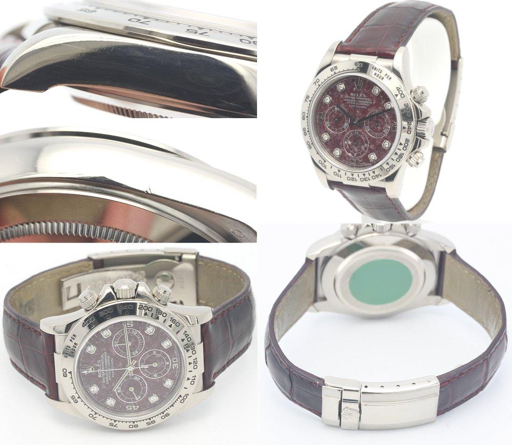 Rolex Cosmograph Daytona 16519 G WG solid Le downy light diamond 8 p men's / 31309 fs3gm