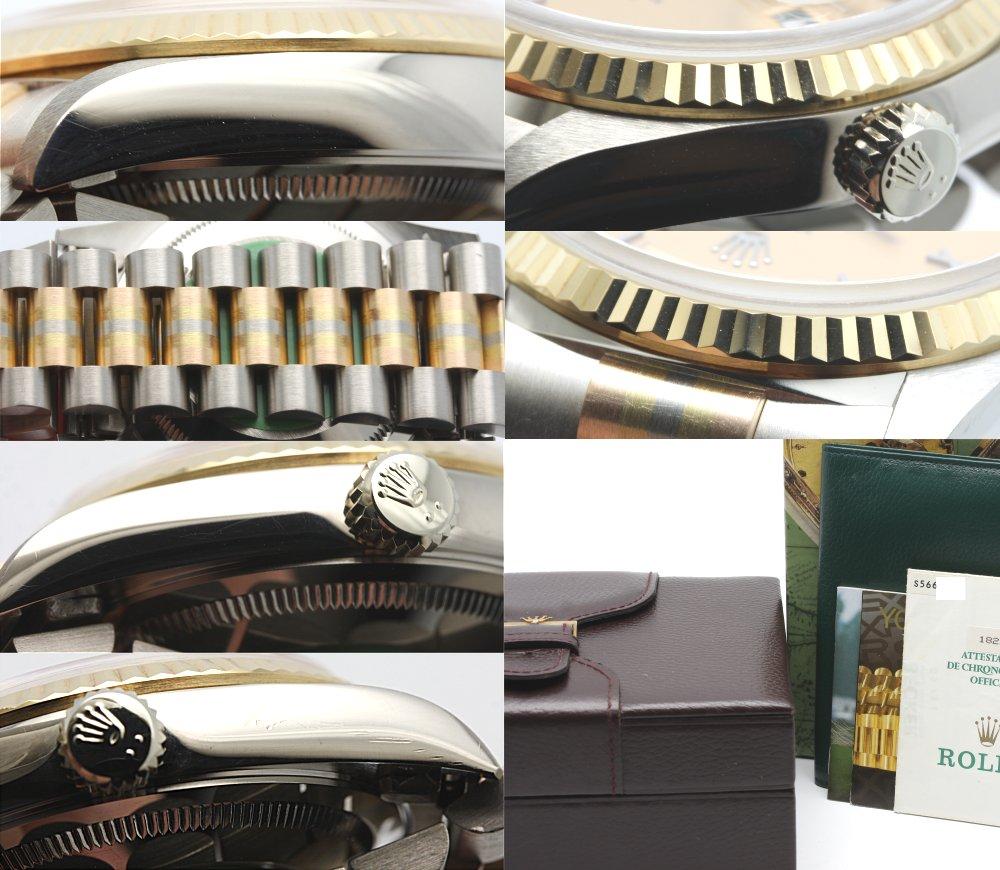 劳力士18239 BIC K18 TORIDOLL三彩色黄金香槟(粉红派棕色)浪漫S轮到人自动卷/3万2279 ROLEX DAY-DATE