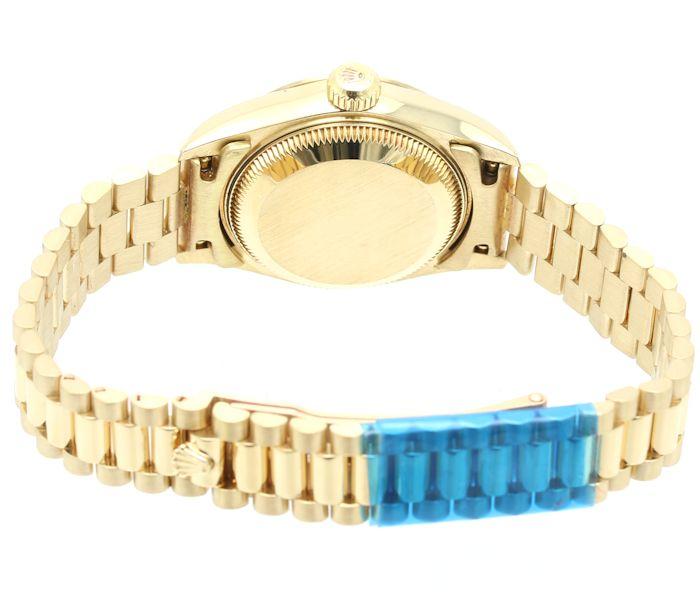 劳力士ROLEX 79178G日期确切粉红蛋白石10P钻石女士/3万3798手表