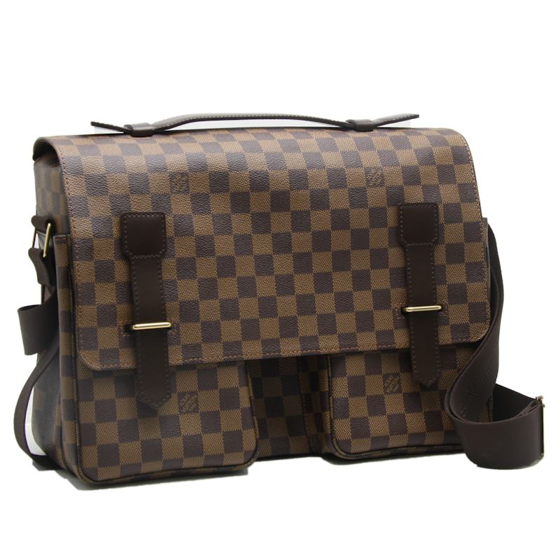 Louis Vuitton Vuitton bag ☆ unused Damier Broadway N42270/18605 even Brown Louis Vuitton LOUIS VUITTON Vitoria bag travel men's