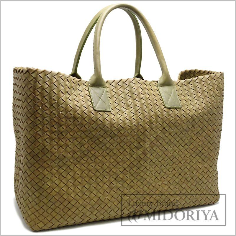 Authentic Bottega Veneta Intrecciato Cabat Large Tote Bag Green 050254 Freeship