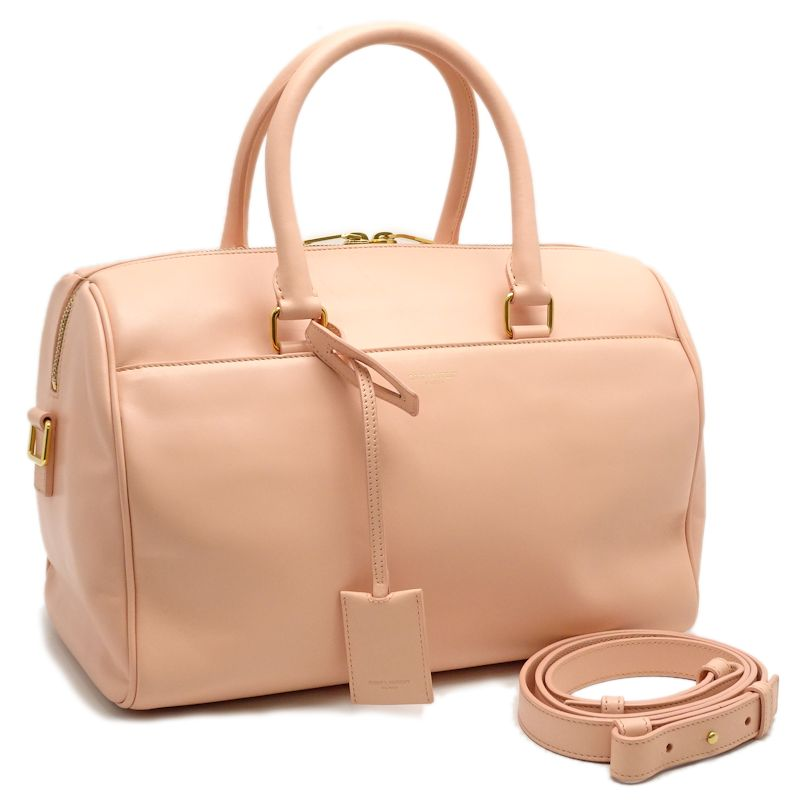 4438d38f6811 Authentic SAINT LAURENT PARIS YSL Classic Duffle 6 2WAY Boston Bag Pink   050260