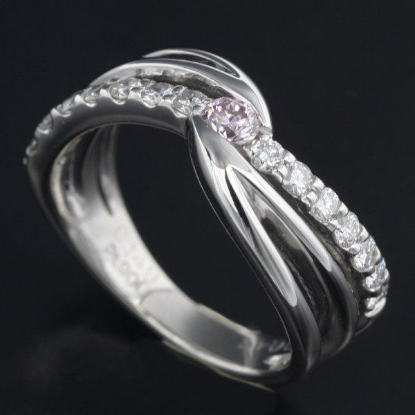 【緊急!大幅値下げ】Pt900 中ダイヤモンド0.149ct メレダイヤ0.43ct リング 12号/62471 プラチナ 指輪 NBJ-Ring【中古】【クリーニング済】