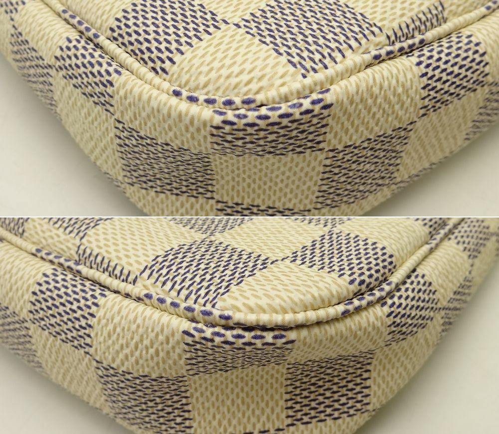 Authentic LOUIS VUITTON Damier Azur Pochette Accessoires Pouch N51986 /18623