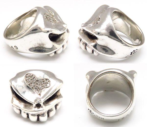 STARLINGEAR Sterling Silver925 Heart Diamond Ring Size 4.5-5 /94591