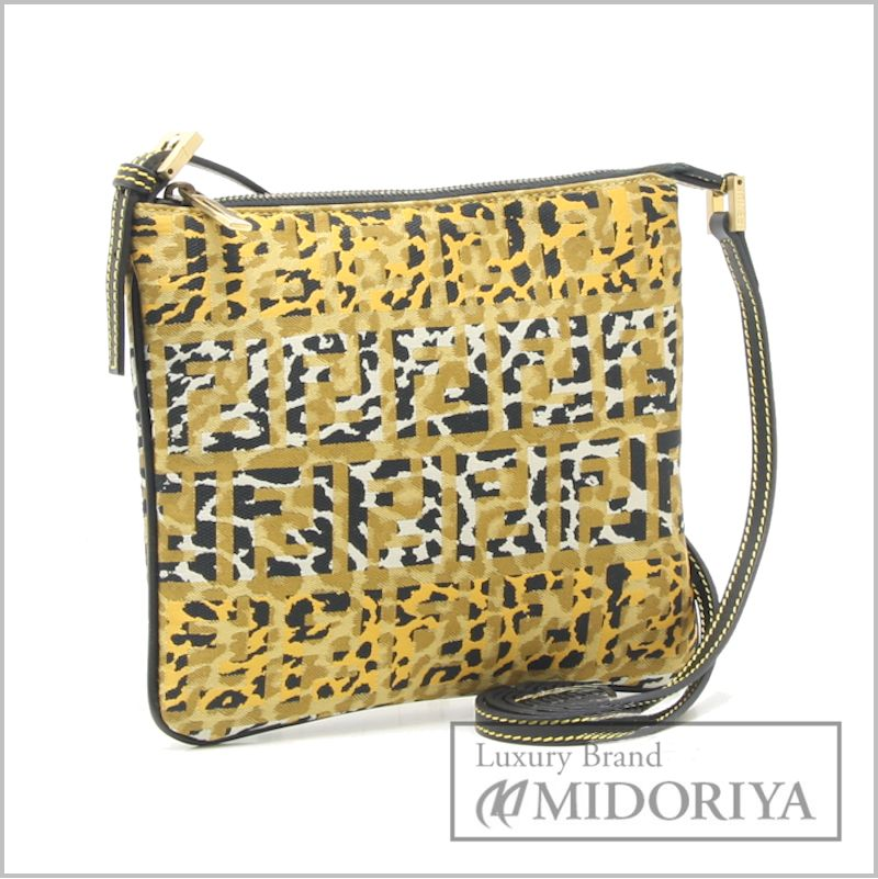 5886d46c9b7e ... top quality fendi zucchino shoulder bag 8bt047 animal print 57285 3dcfd  0165d